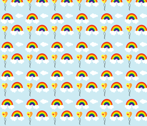 I heart Rainbows fabric by kiwicuties on Spoonflower - custom fabric