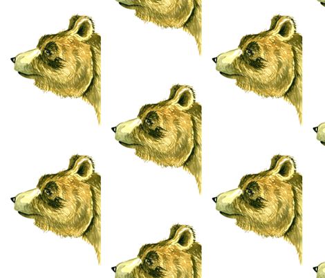 Bear Face fabric by taraput on Spoonflower - custom fabric