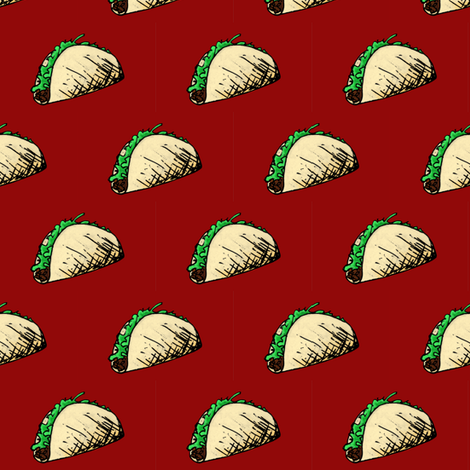 Taco II fabric by pond_ripple on Spoonflower - custom fabric