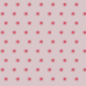 Bright dandelion dots in pink