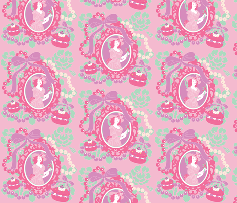 Macarons & Marie fabric by pinkmacaroon on Spoonflower - custom fabric