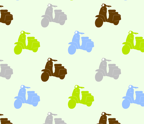 Fifties Scooters fabric by fannie_m on Spoonflower - custom fabric
