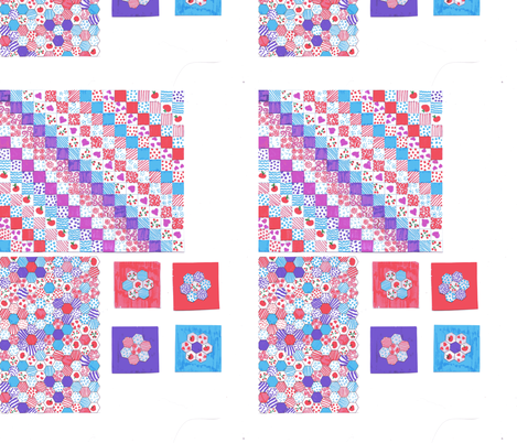 Dolls house throw, pillows and quilting fabric fabric by i_made_this on Spoonflower - custom fabric