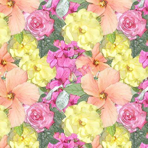 SummerGarden_3_multi fabric by tallulahdahling on Spoonflower - custom fabric