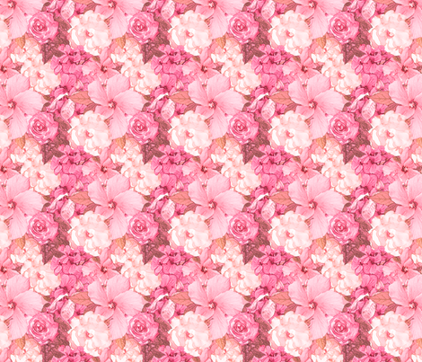 SummerGarden_3_Pinks fabric by tallulahdahling on Spoonflower - custom fabric