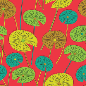 lotus leaves (red)
