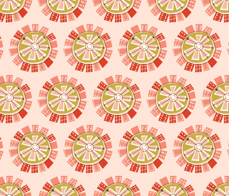 mod floral fabric by amel24 on Spoonflower - custom fabric