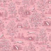 Dark Pink Reverse Greyhound Toile ©2010 by Jane Walker