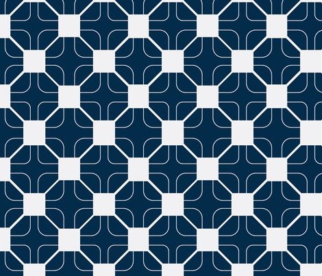 octagon grid french navy