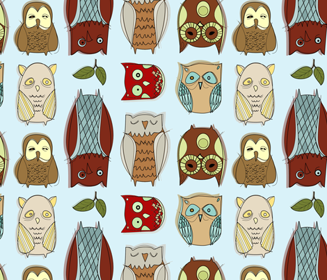 lifes_a_hoot fabric by neverwhere on Spoonflower - custom fabric