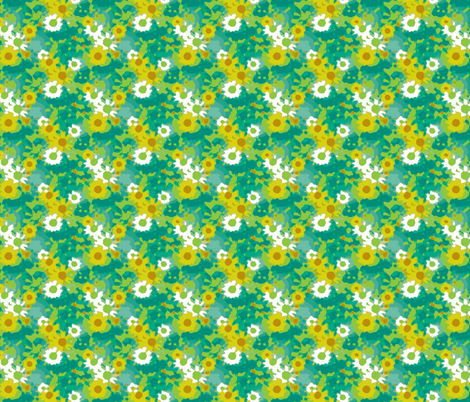 Claude's Daisy Impression - Botanical Colours fabric by inscribed_here on Spoonflower - custom fabric