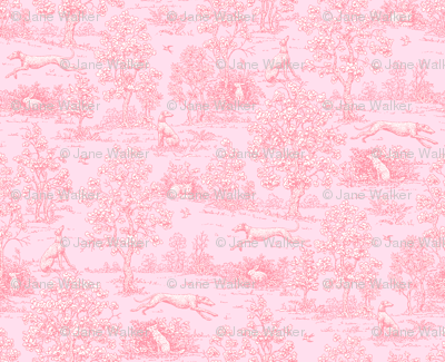Original Light Pink Reverse Greyhound Toile ©2010 by Jane Walker