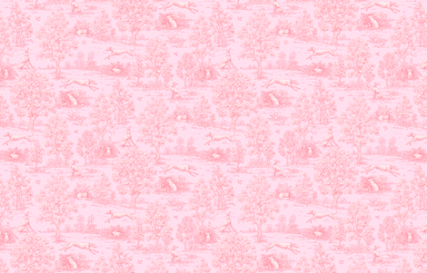 Original Light Pink Reverse Greyhound Toile ©2010 by Jane Walker fabric by artbyjanewalker on Spoonflower - custom fabric