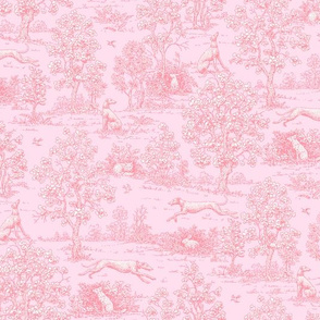 Light Pink Reverse Greyhound Toile ©2010 by Jane Walker