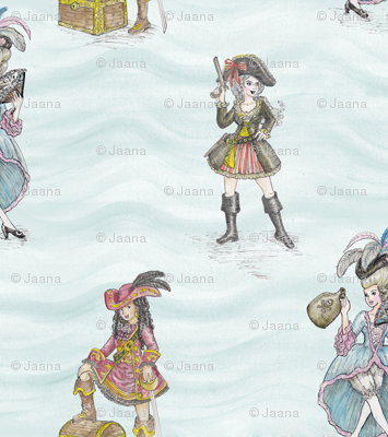 RoCoco Chanel Presents: Fashionable Pirate Girls