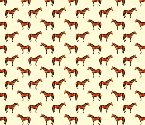 Thoroughbred Natural White fabric by shenlei on Spoonflower - custom fabric