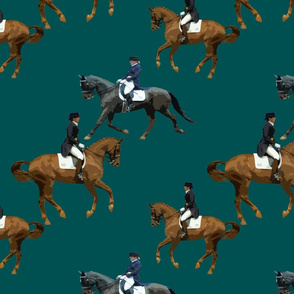 Carriage Trade Dressage Teal