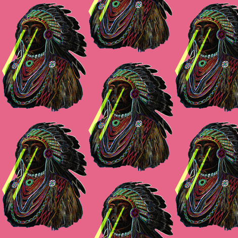 Neon Chief fabric by dolphinandcondor on Spoonflower - custom fabric
