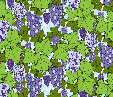 Fresh Purple Grapes - Day fabric by inscribed_here on Spoonflower - custom fabric