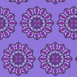 Purple Mandala with Sparkles