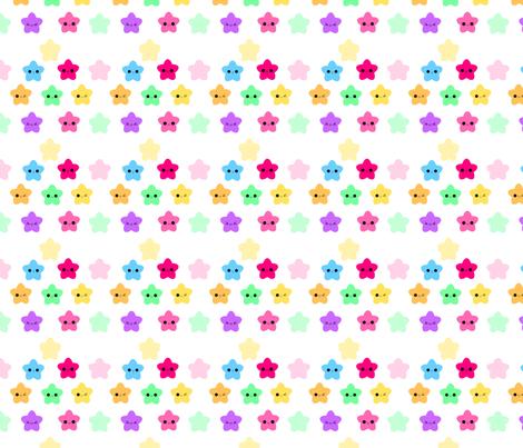KawaiiStars fabric by eerie_doll on Spoonflower - custom fabric