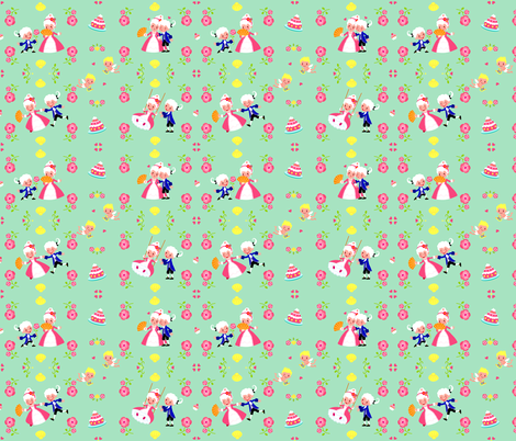 Sweet rococo fabric by irrimiri on Spoonflower - custom fabric