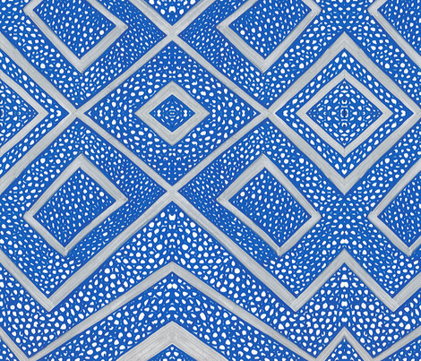 Blue Square fabric by dolphinandcondor on Spoonflower - custom fabric