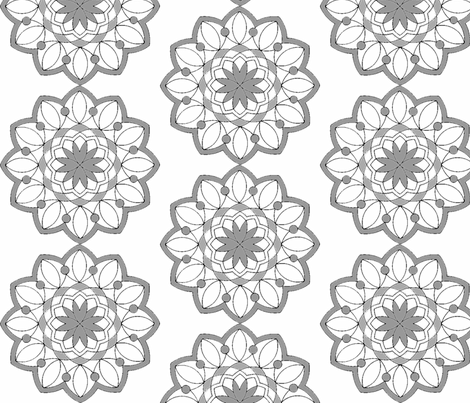 Lavendar Mandala fabric by rengal on Spoonflower - custom fabric