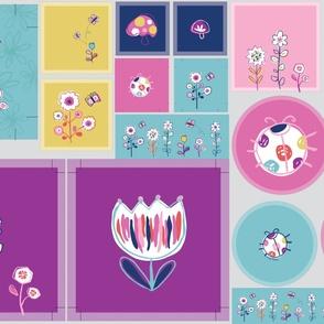 Floral Garden pillow templates