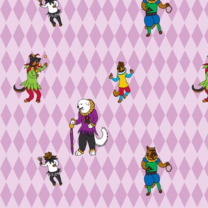 bouffons du carnaval chien