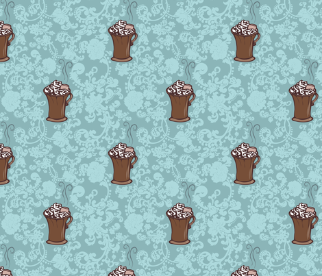 Ro-Cocoa fabric by leeleeandthebee on Spoonflower - custom fabric