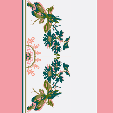 Paradise rococo / border fabric by paragonstudios on Spoonflower - custom fabric