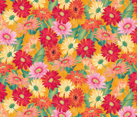 Daisies fabric by erinwilliams on Spoonflower - custom fabric