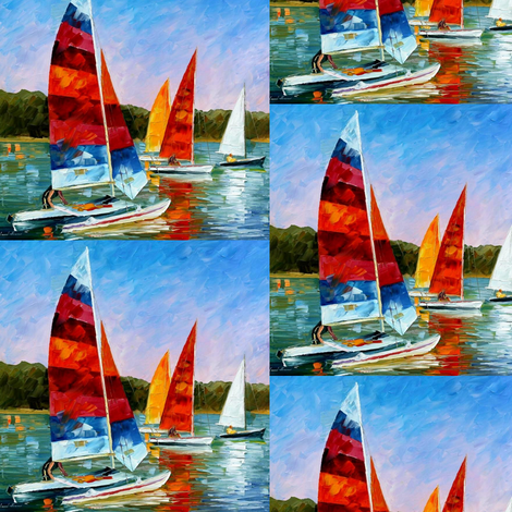 Catamaran fabric by afremov_designs on Spoonflower - custom fabric