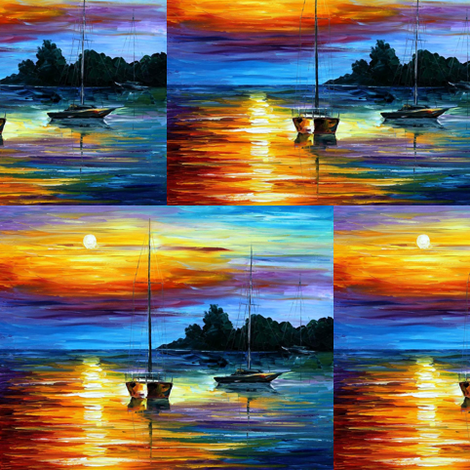 Florida Sunset fabric by afremov_designs on Spoonflower - custom fabric