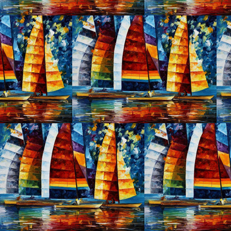 Sea Regatta fabric by afremov_designs on Spoonflower - custom fabric