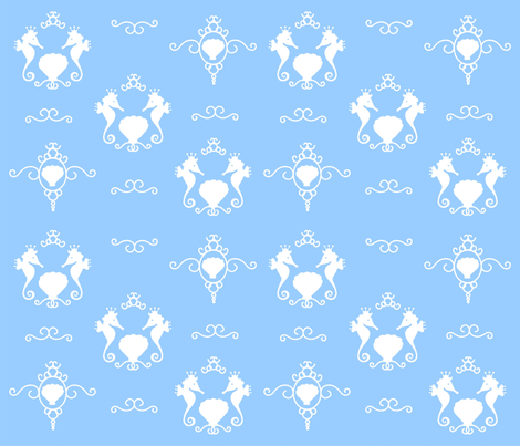 Seashell Silhouette fabric by kimberly_ouimet on Spoonflower - custom fabric