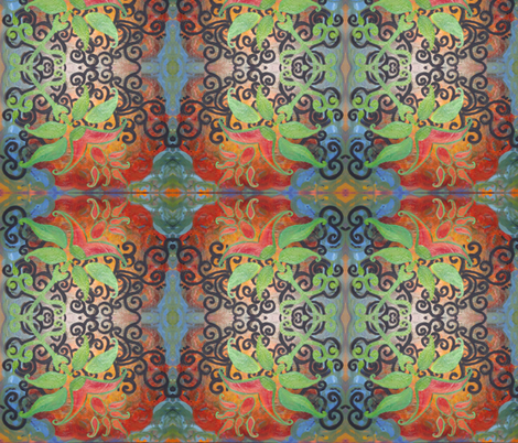 Flora Emerging fabric by ann_viveros on Spoonflower - custom fabric