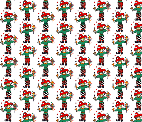 Single jester on plain background fabric by tracydb70 on Spoonflower - custom fabric