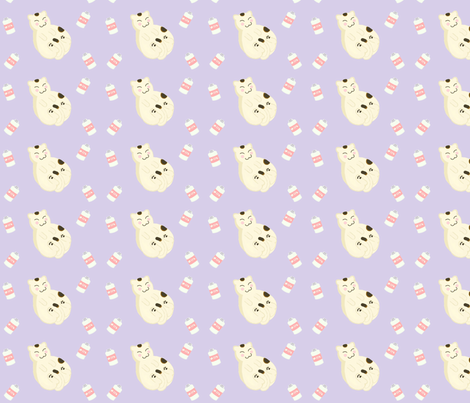 Rolly Polly Kitty fabric by eerie_doll on Spoonflower - custom fabric