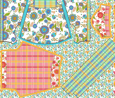 Rose la poupée et ses vêtements fabric by nadja_petremand on Spoonflower - custom fabric