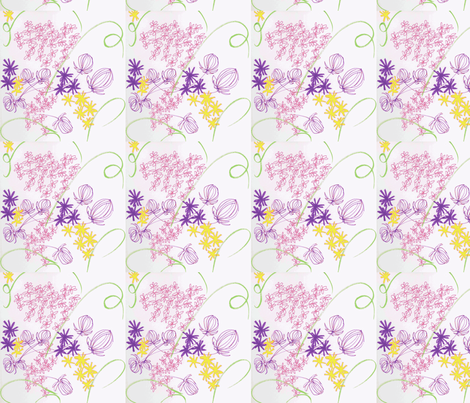 multi_green_swirl-ch fabric by diannemarie on Spoonflower - custom fabric