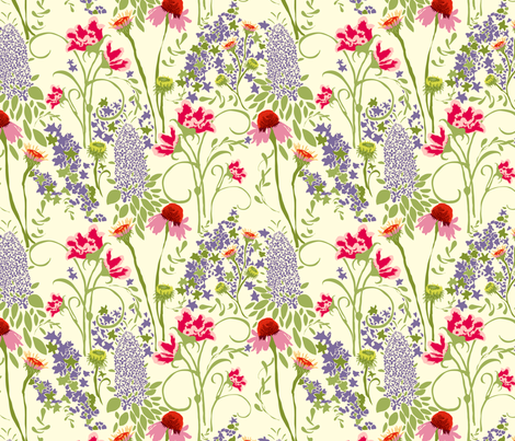 Flowering Meadow fabric by marlene_pixley on Spoonflower - custom fabric