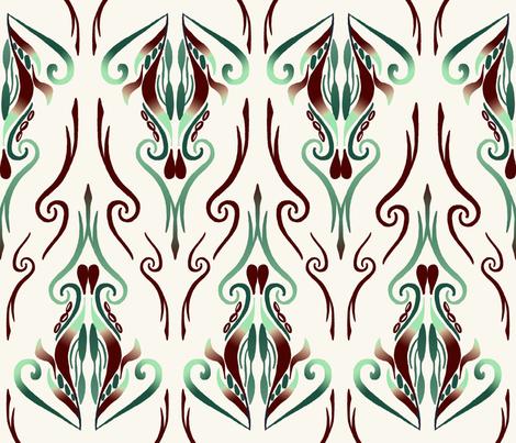 Mint Chocolate Chip Rococo fabric by hannah_arner on Spoonflower - custom fabric