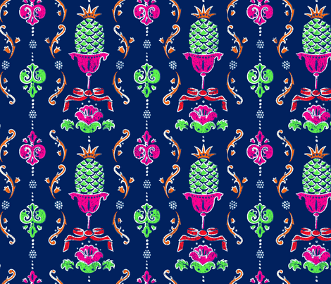Nouveau Rococo fabric by dynasty_b on Spoonflower - custom fabric