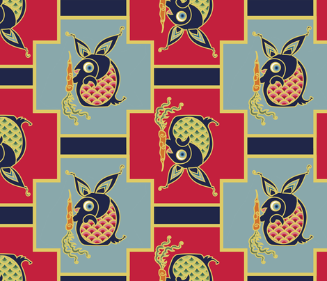 Year of the Rabbit fabric by thirdhalfstudios on Spoonflower - custom fabric
