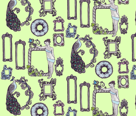 Rococo_FRAMES fabric by erin_lebeau on Spoonflower - custom fabric