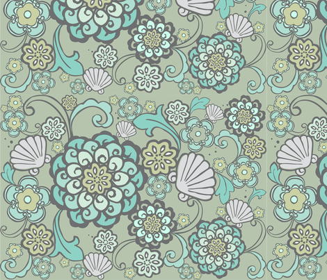 rococoSeaflower-ch-ch fabric by flock on Spoonflower - custom fabric