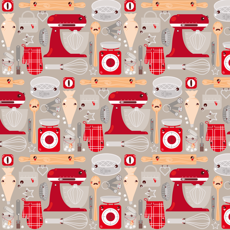 Baking Stuff (small scale) fabric by verycherry on Spoonflower - custom fabric