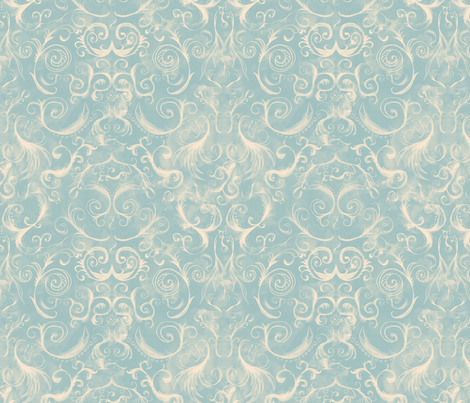 rococo fabric by leighr on Spoonflower - custom fabric